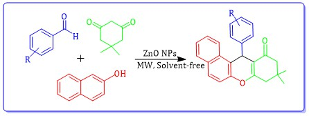 Green Synthesis of ZnO Nanoparticles via Sol-gel Method and Investigation of Its Application in Solvent-free Synthesis of 12-Aryl-tetrahydrobenzo[α]xanthene-11-one Derivatives Under Microwave Irradiation
