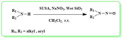 Sulfate Sulfuric Acid (SUSA)/NaNO2: Efficient Procedure for N-Nitrosation of Secondary Amines and DFT Studies of the Products