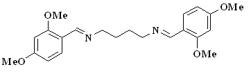 Preparation and Crystal Structure of N,N΄-bis(2,4-dimethoxybenzylidene)-butane-1,4-diamine Monohydrate