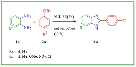 Metal-Organic Framework MIL-53(Fe) as a highly efficient reusable catalyst for the synthesis of 2-aryl-1H-benzimidazole