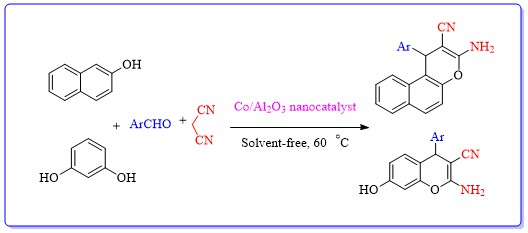 Alumina-Supported Cobalt Nanoparticles Efficiently Catalyzed the Synthesis of Chromene Derivatives under Solvent-Free Condition