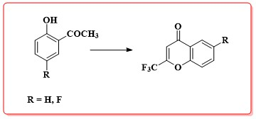 Cyclodehydration and Baker-Venkataraman Rearrangement Methodologies for the Preparation of Fluorinated 4H-Chromones