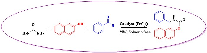 Microwave Assisted Solvent-free Synthesis of 1-phenyl-1, 2-dihydro-3H-naphtho[1, 2-e][1, 3]oxazin-3-one Catalyzed by FeCl3