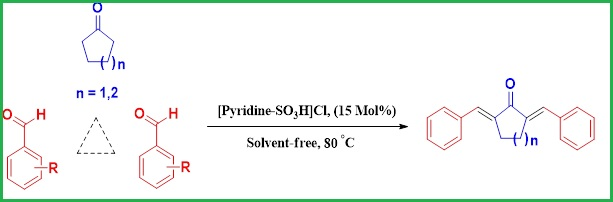The Synthesis of α,αʹ-bis(arylidene)Cycloalkanones using Sulfonic Acid Functionalized Pyridinium Chloride