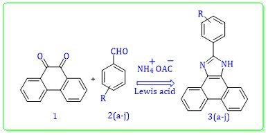 One-pot Synthesize of Phenyl Phenanthro Imidazole Derivatives Catalyzed by Lewis Acid in the Presence of Ammonium Acetate