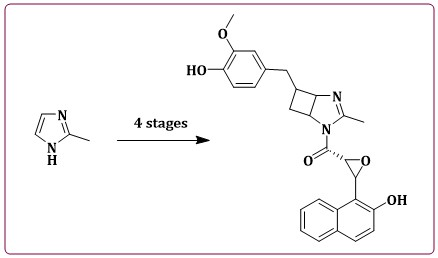 Design and Synthesis of a Diaza-bicyclo-naphthalen-oxiranyl-methanone Derivative. Theoretical Analysis of Their Interaction with Cytochrome P450-17A1